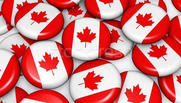 Canadá bandera insignias imagen día acontecimientos Foto stock © NiroDesign