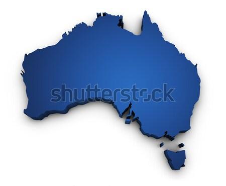 Harita Avustralya 3D biçim avustralya renkli Stok fotoğraf © NiroDesign
