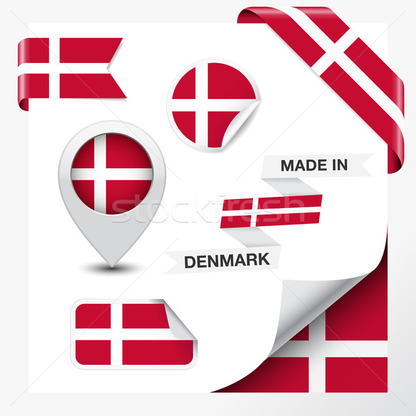 Danimarca raccolta nastro etichetta badge Foto d'archivio © NiroDesign