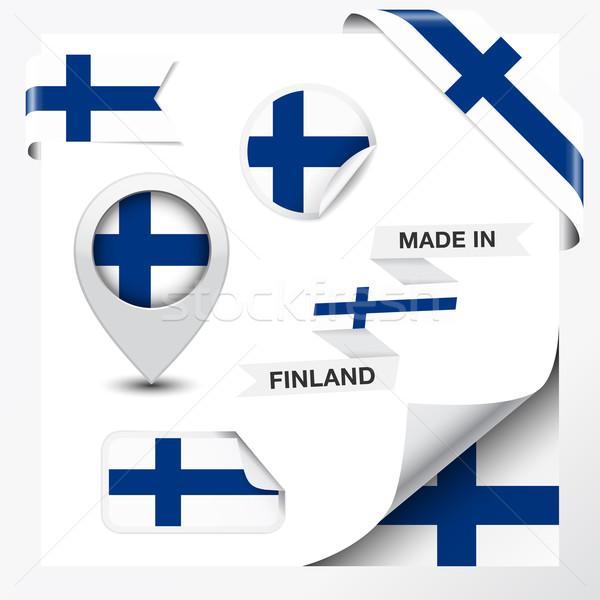 Finlandia kolekcja wstążka etykiety naklejki odznakę Zdjęcia stock © NiroDesign