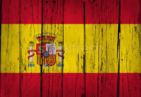 Spagna bandiera grunge legno bandiera spagnola verniciato Foto d'archivio © NiroDesign