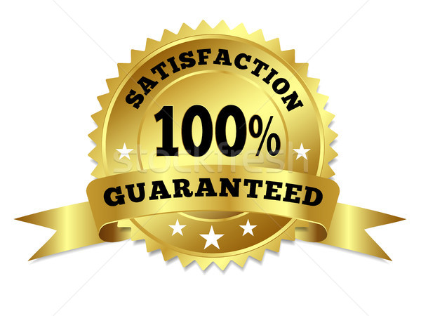 Gold Badge Satisfaction Guaranteed With Ribbon Stock photo © NiroDesign