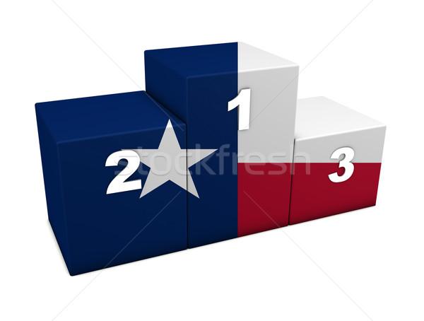 Texas Flag Podium Stock photo © NiroDesign