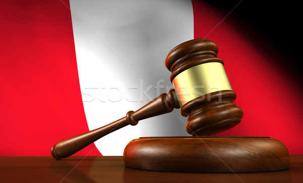 Peru Law Legal System Concept Stock photo © NiroDesign