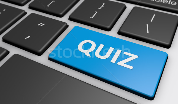Quiz Sign On Computer Keyboard Stock photo © NiroDesign