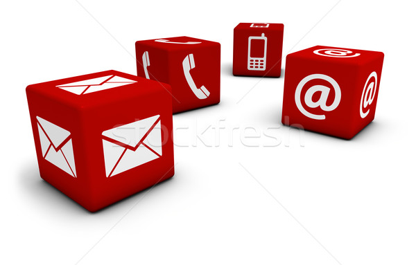 Contact Us Icons On Cubes Stock photo © NiroDesign