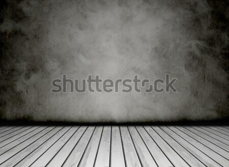 Grunge vintage bianco nero concrete muro Foto d'archivio © NiroDesign