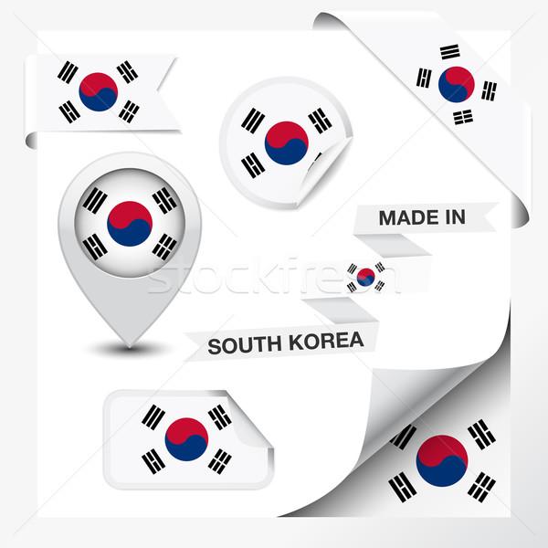 Corea del Sud raccolta nastro etichetta badge Foto d'archivio © NiroDesign