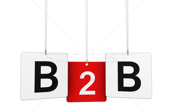 B2b Sign Stock photo © NiroDesign