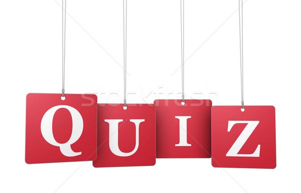 Examen signo palabra rojo etiqueta etiquetas Foto stock © NiroDesign