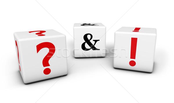 Kérdések válaszok háló gyik üzlet kapcsolat Stock fotó © NiroDesign