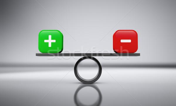 Meg mínusz üzlet egyensúly ikon felirat Stock fotó © NiroDesign