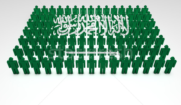 Arabia Saudyjska parada 3d osób górę widoku arabia Zdjęcia stock © NiroDesign