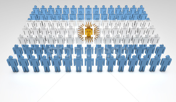 Argentinian Flag Parade Stock photo © NiroDesign