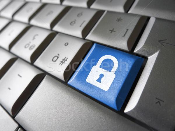 Ordenador clave Internet web candado Foto stock © NiroDesign