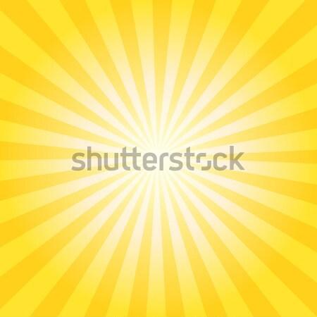 Abstract vettore giallo arancione linee sole Foto d'archivio © NiroDesign