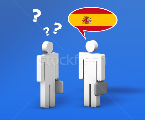 Business Spanish Language Concept Stock photo © NiroDesign
