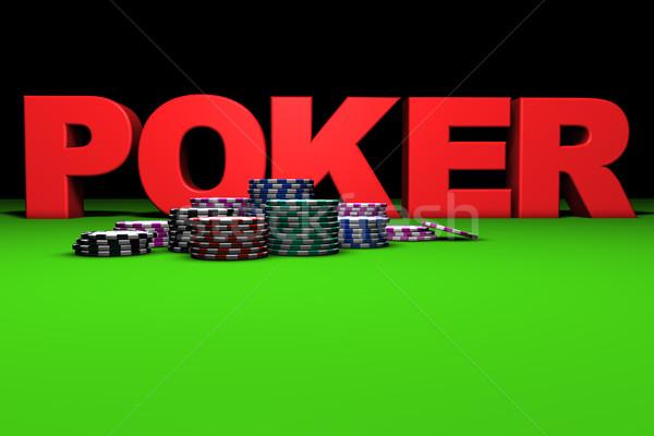 Red Poker Sign Stock photo © NiroDesign