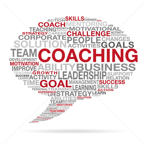Stock photo: Coaching Business Succes Cloud Concept