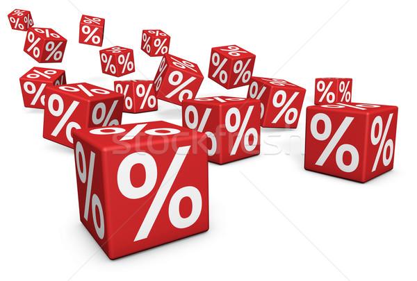 Vendite sconto promozione rosso percentuale Foto d'archivio © NiroDesign