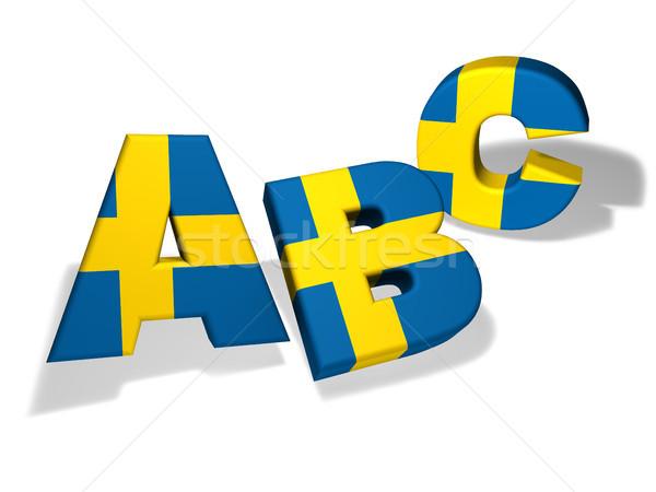 Stockfoto: School · taal · onderwijs · brieven · kleuren · Zweden