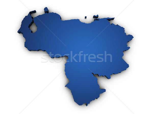 Map Of Venezuela 3d Shape Stock photo © NiroDesign