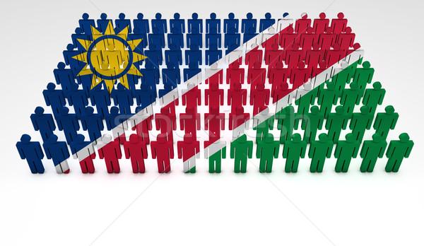 Namibia Flag Parade Stock photo © NiroDesign