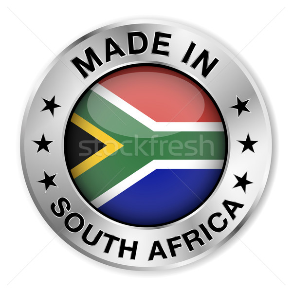 Made In South Africa Silver Badge Stock photo © NiroDesign