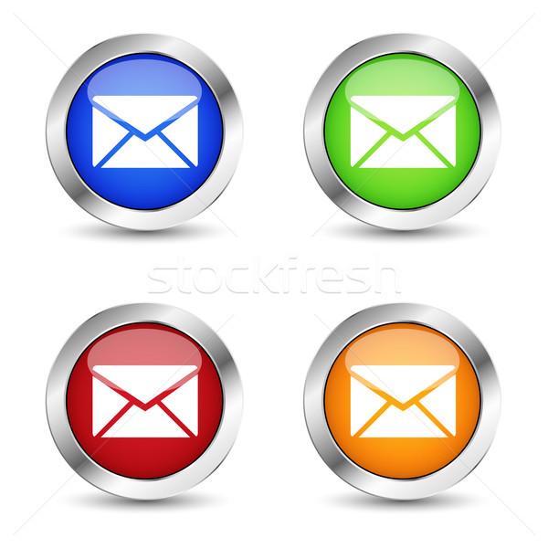 E-mail icona set simbolo Foto d'archivio © NiroDesign