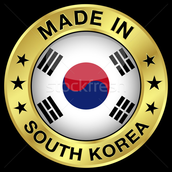 South Korea Made In Badge Stock photo © NiroDesign