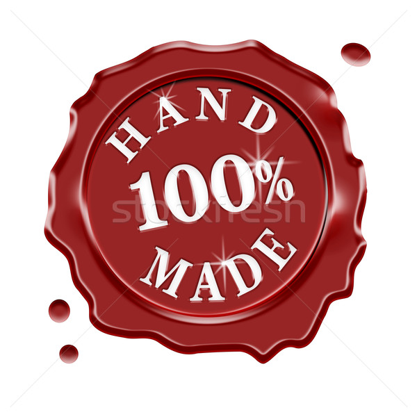 Hand Made Wax Seal Guarantee Stock photo © NiroDesign