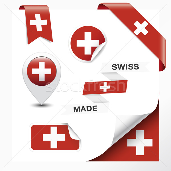Swiss Made Symbol Collection Stock photo © NiroDesign