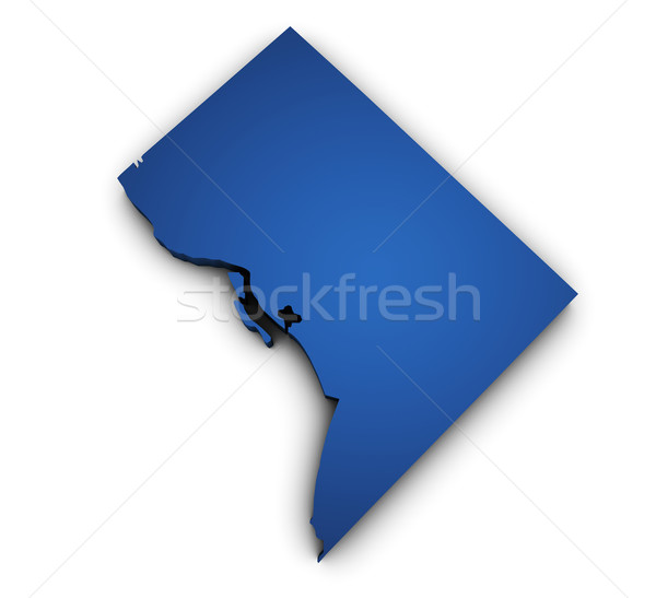 Map Of Washington DC 3d Shape Stock photo © NiroDesign