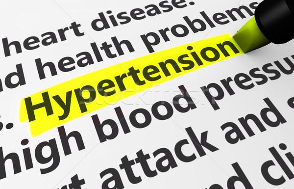 Magas vérnyomás orvosi egészségügy betegség állapot 3D Stock fotó © NiroDesign
