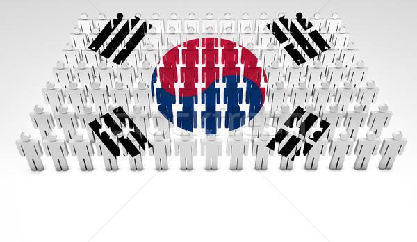 South Korean Flag Parade Stock photo © NiroDesign