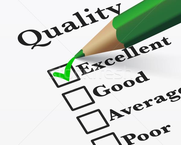 Ottimo qualità sondaggio controllo di qualità business Foto d'archivio © NiroDesign