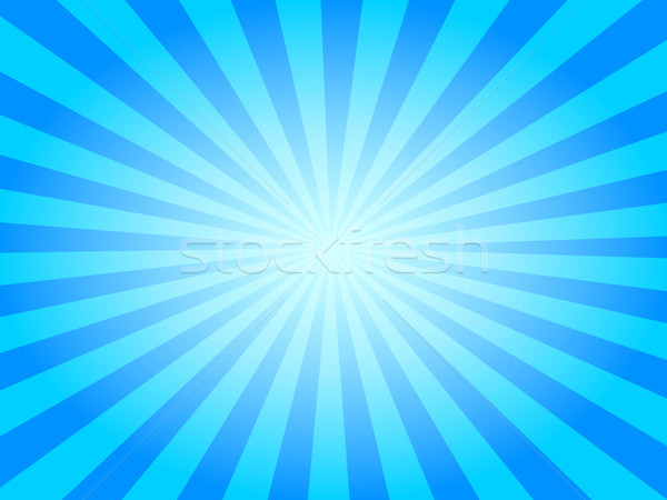 Stock photo: Summer Sky Vector Sunburst Background