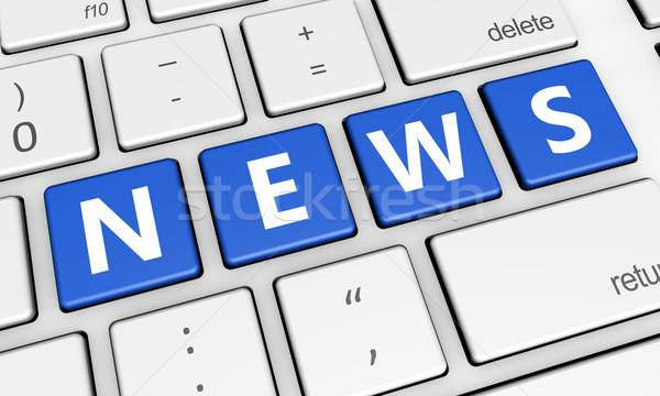 Internet noticias digital los medios de comunicación línea Foto stock © NiroDesign