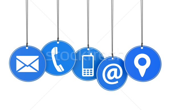 Website Contact Page Tags Concept Stock photo © NiroDesign