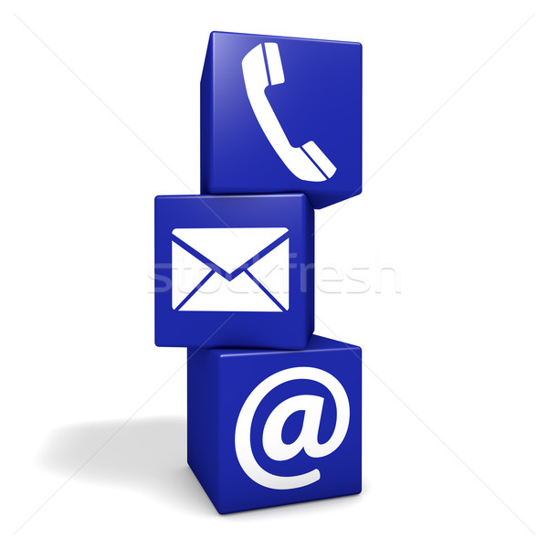 Contact Us Internet Cubes Concept Stock photo © NiroDesign