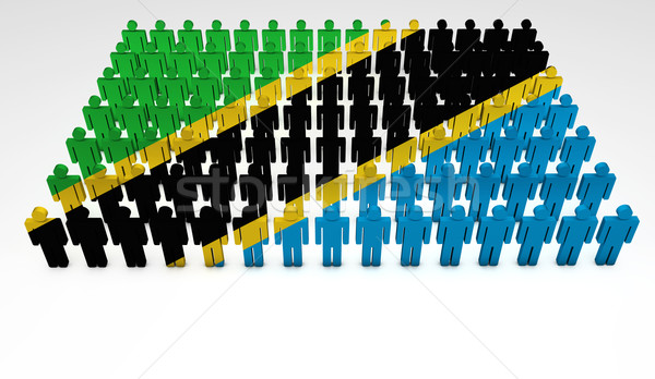 Tanzania Flag Parade Stock photo © NiroDesign