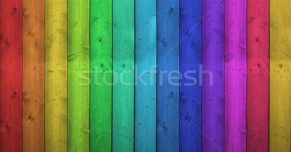 虹色 木製 カラフル 木材 垂直 ストックフォト © NiroDesign
