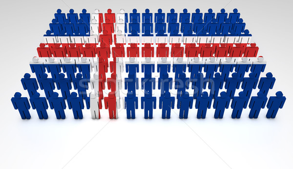 Iceland Flag Parade Stock photo © NiroDesign