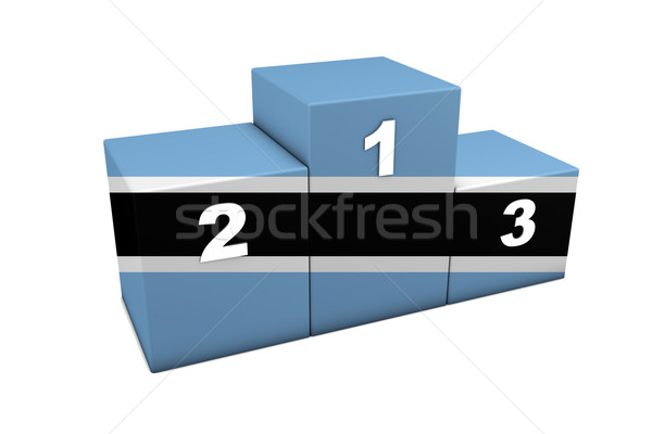Botswana podium haut positions 3D Photo stock © NiroDesign