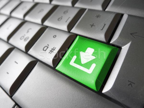 Stok fotoğraf: Indirmek · anahtar · web · Internet · ikon · simge