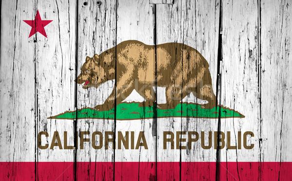 California bandiera grunge legno verniciato Foto d'archivio © NiroDesign