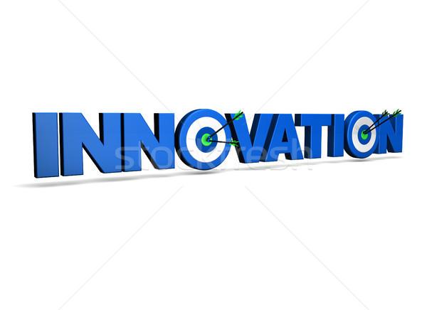 Innovazione target segno due frecce verde Foto d'archivio © NiroDesign