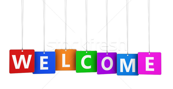 Welcome Sign Stock photo © NiroDesign