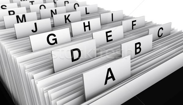 Business Customer File Directory Stock photo © NiroDesign