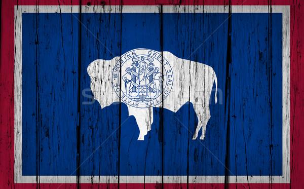Wyoming pavillon grunge bois bois peint Photo stock © NiroDesign